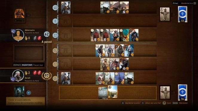 Le gwynt est un véritable jeu dans le jeu : simple à comprendre, ultra addictif et bien intégré. C'est une réelle surprise. J'exige un mode online de cet unique jeu de cartes.